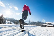 Woman Doing Cross-Country Skiing