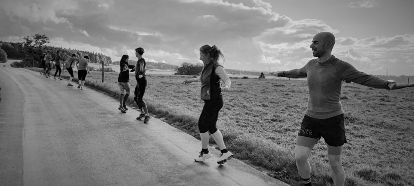 Yoga und Running imHerbst